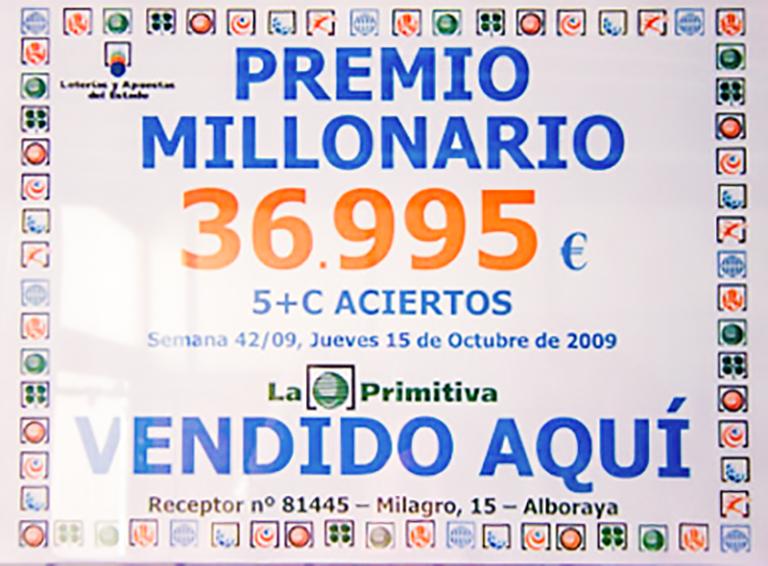segundo premio loteria primitiva premiados en el año 2009